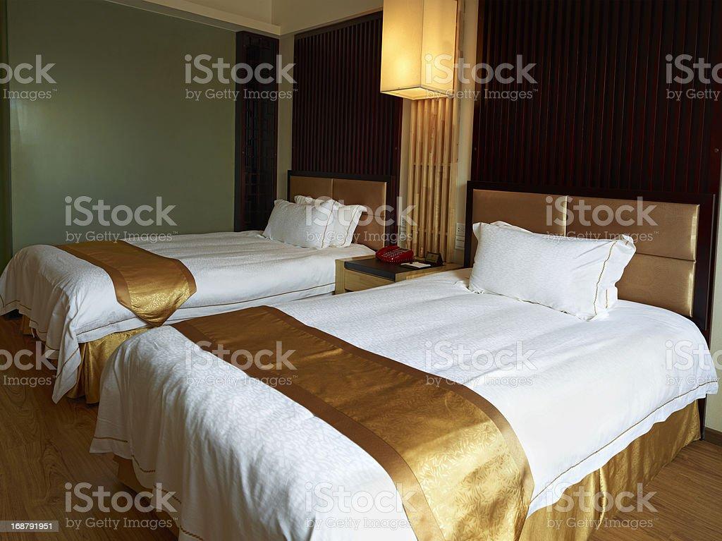 Hotel family bedroom stock photo