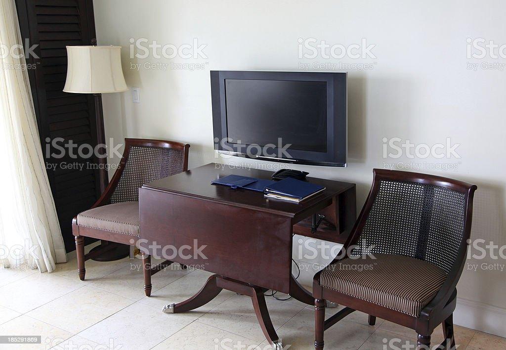Hotel Flat Screen TV royalty-free stock photo