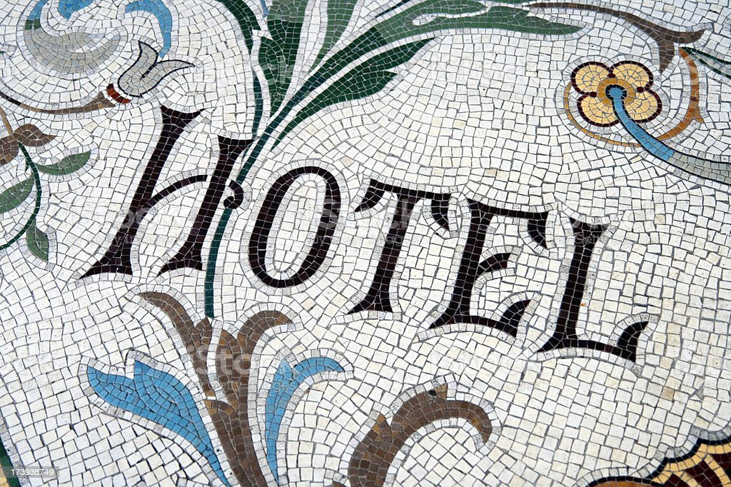 'Hotel' -  floor mosaic royalty-free stock photo