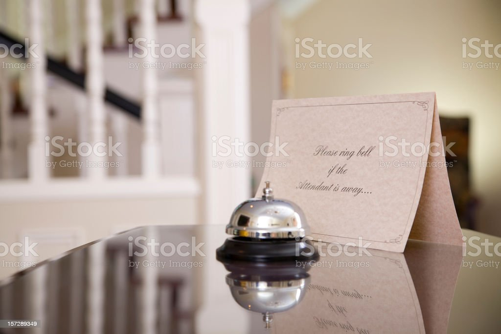 Hotel Front Desk stock photo