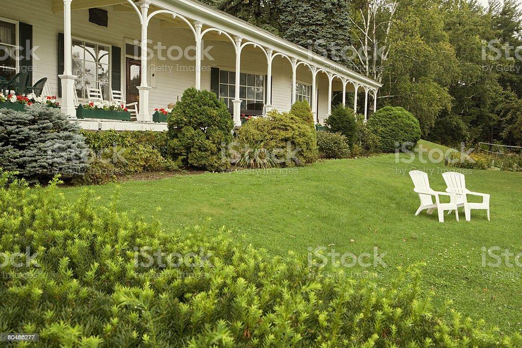 Hotel garden 免版稅 stock photo