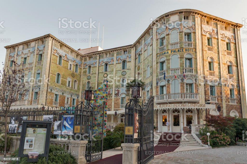 Hotel Hungaria Ausonia on Lido island. Venice, Italy. stock photo