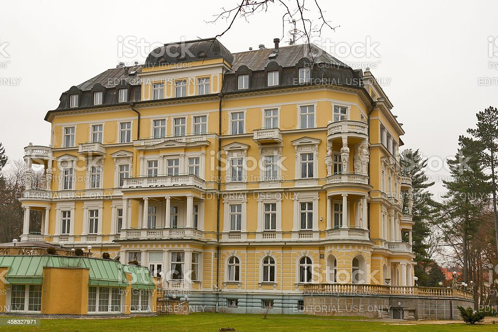 Hotel Imperial in Frantiskovy Lazne stock photo