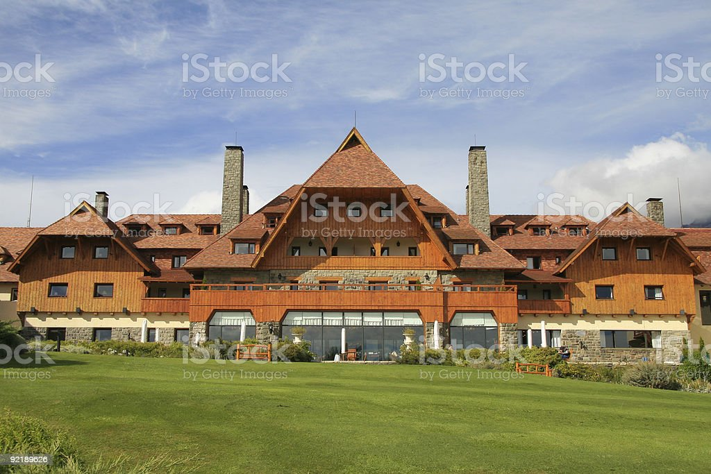 Hotel in Bariloche royalty-free stock photo
