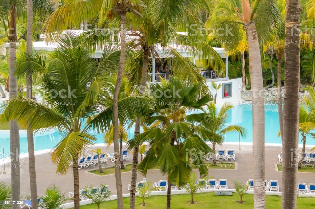 Hotel in Punta Cana. stock photo