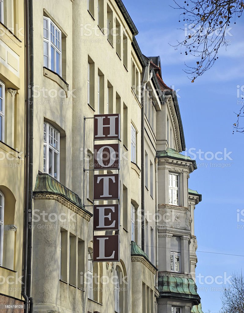 Hotel in the city royalty-free stock photo