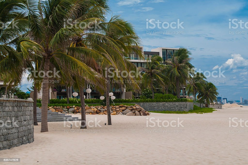 Hotel in the My Khe beach, Danang, Vietnam stock photo