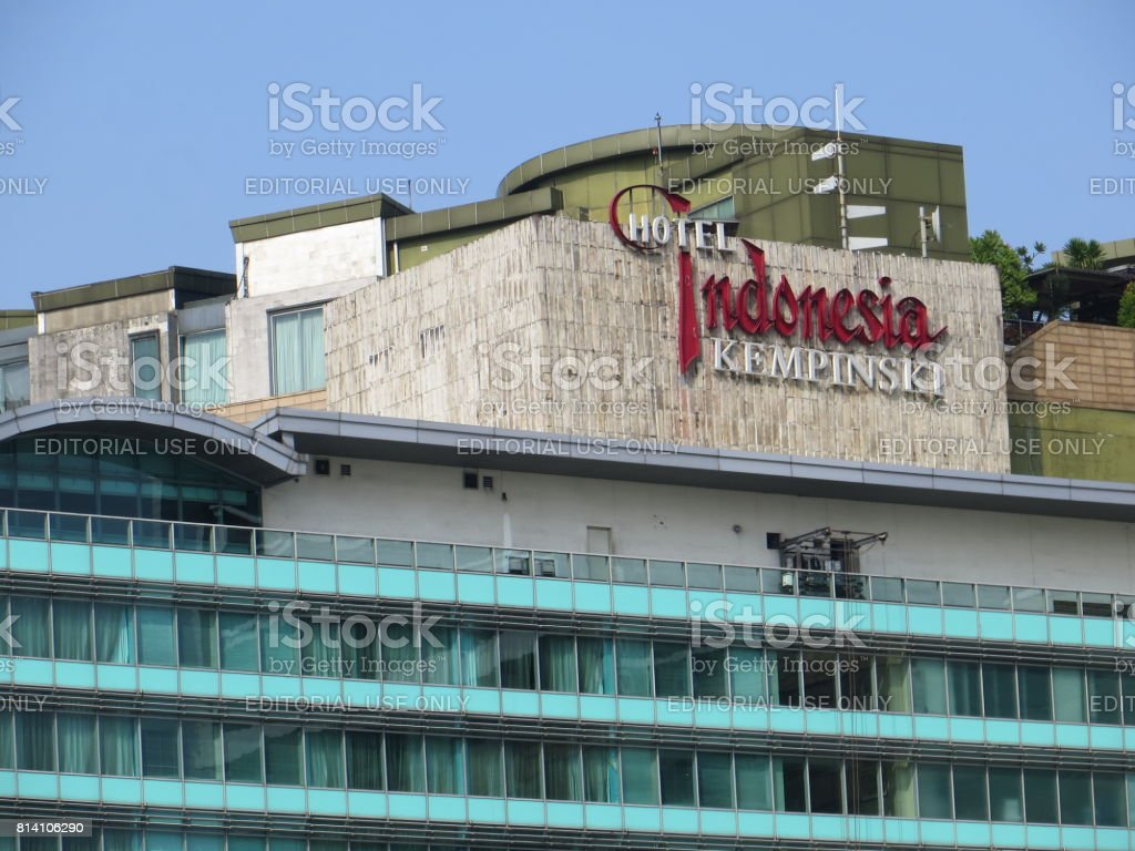 Hotel Indonesia Kempinski stock photo