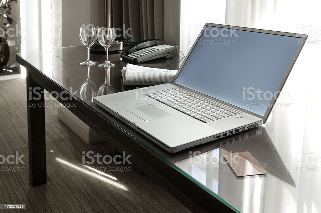 Hotel Internet royalty-free stock photo
