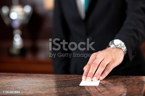 Hotel key card, guest management system, concept of hotel management