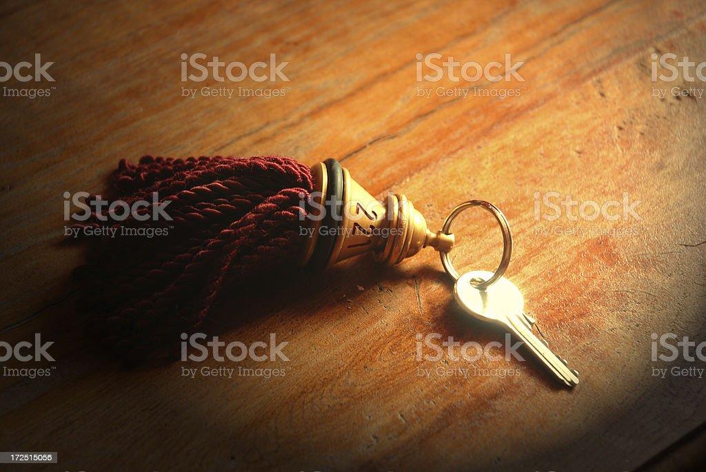 Hotel key royalty-free stock photo
