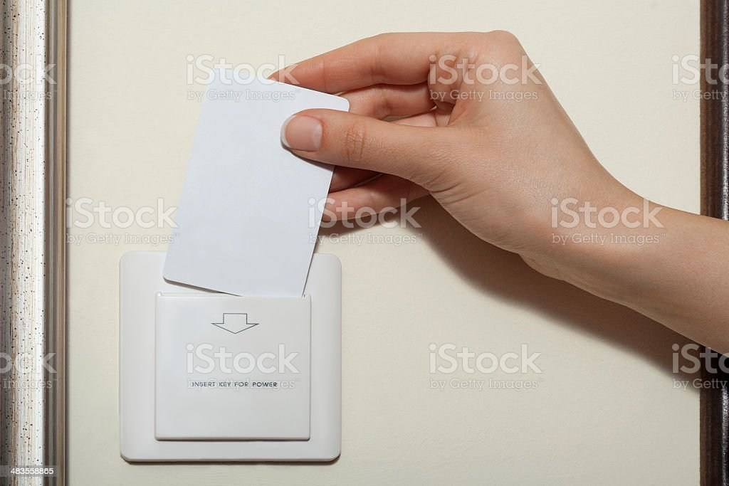 Hotel keycard stock photo
