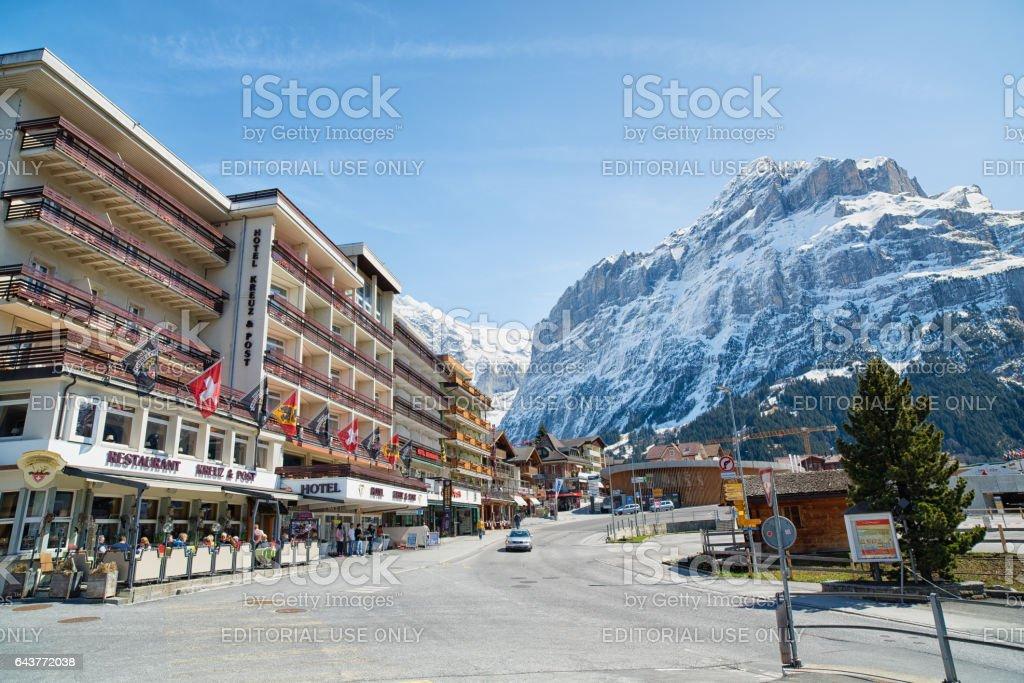 Hotel Kreuz & Post, Grindelwald stock photo