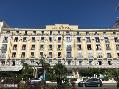 istock Hotel Le Royal on Promenade des Anglais in Nice France 1177855686