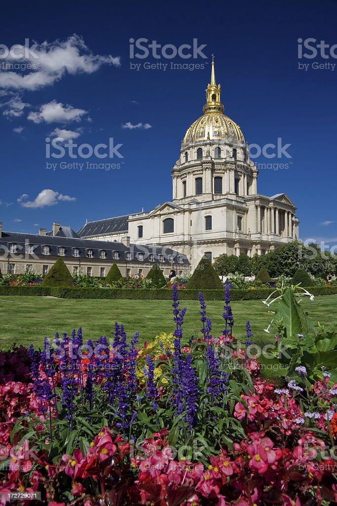 Hotel les Invalides in Paris stock photo