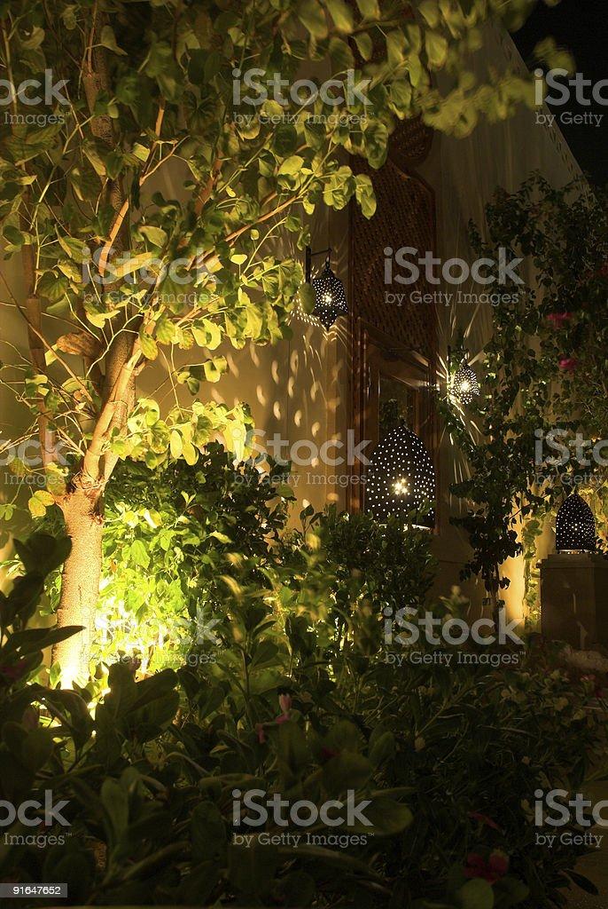 Hotel lights royalty-free stock photo