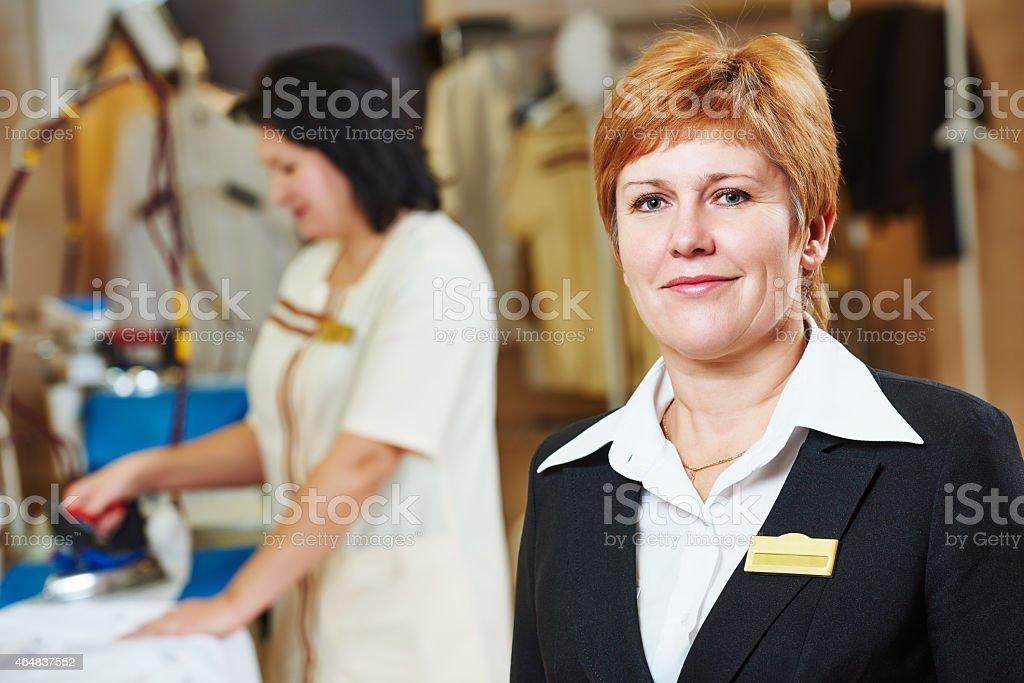 Hotel linen service stock photo