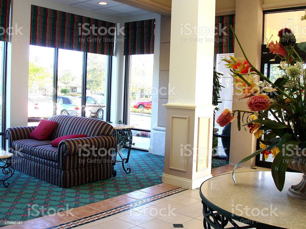 Hotel Lobby Interior royalty-free stock photo