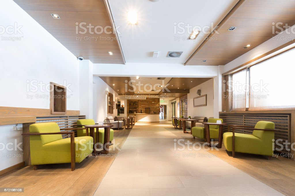 Hotel lobby interior stock photo