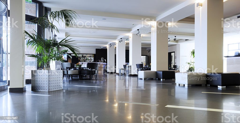 hotel lobby royalty-free stock photo