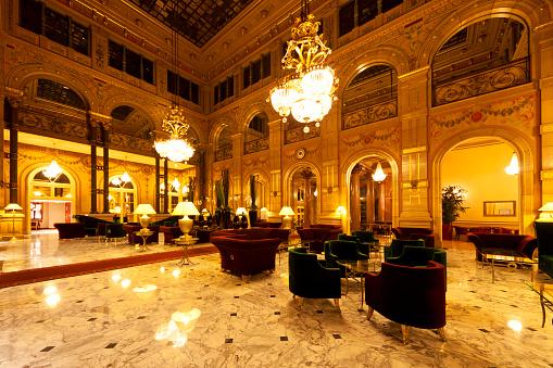 Lobby Hotelowe - zdjęcia stockowe i więcej obrazów Bez ludzi