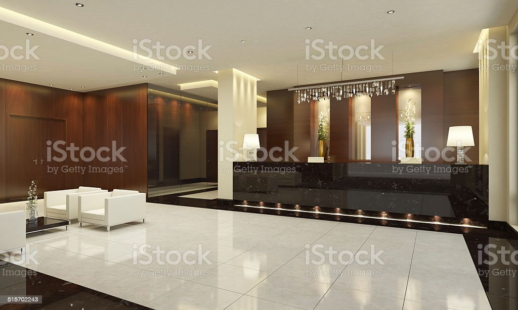 Hotel Lobby stock photo