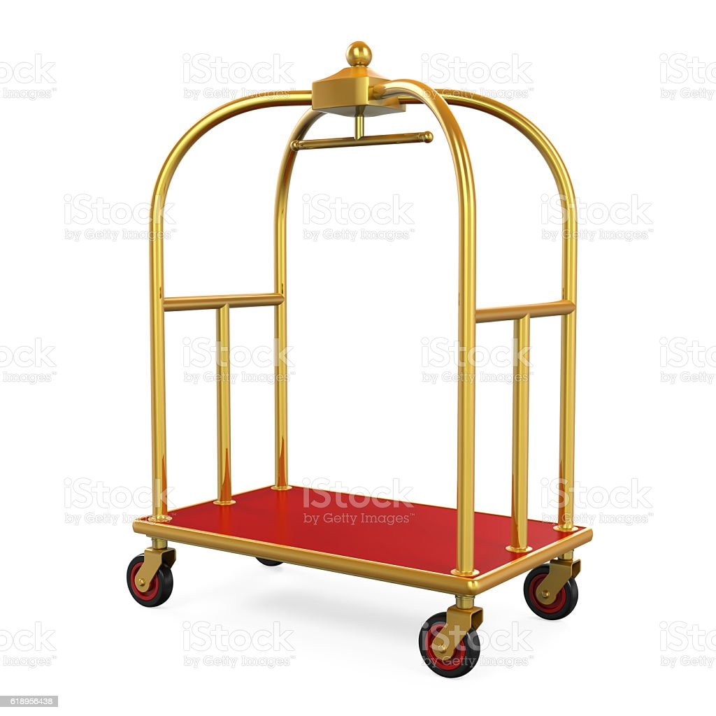 Hotel Luggage Trolley stock photo