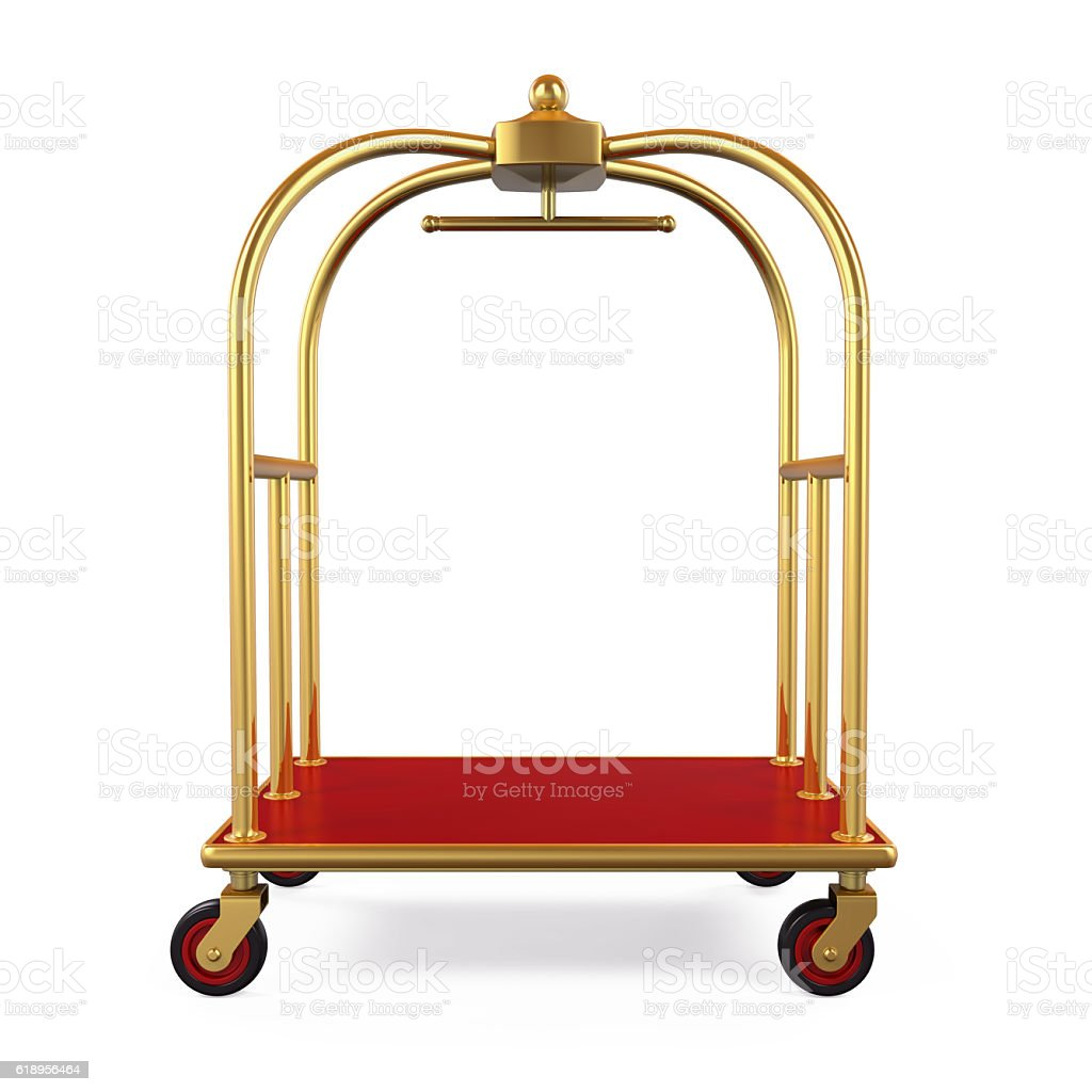 Hotel Luggage Trolley stock photo