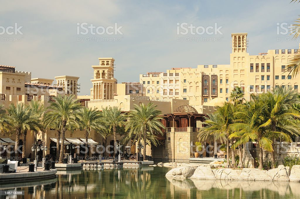 Hotel Madinat Jumeirah in Dubai stock photo