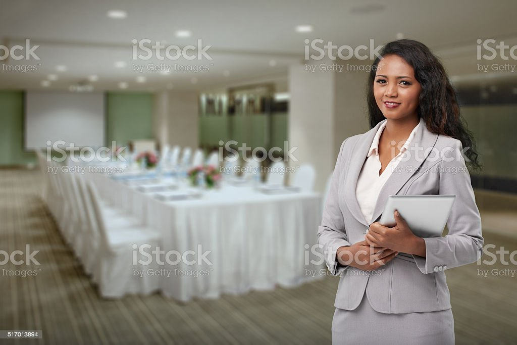 Hotel manager stock photo