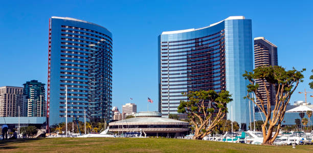 Hotel Marriott in San Diego. stock photo