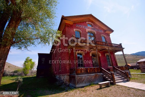 Bannack, MT, USA - July 2, 2013: The Hotel Meade in the ghost town of Bannack Montana.
