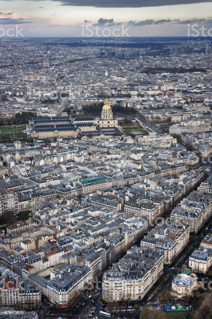 L'hotel national des Invalides in the evening 免版稅 stock photo