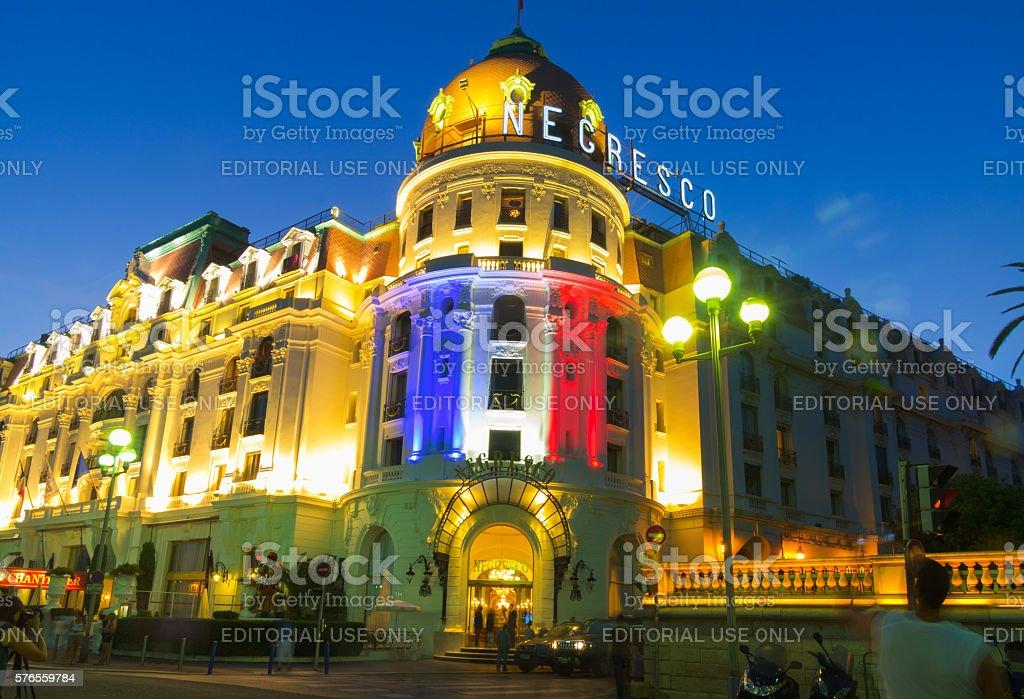 Hotel Negresco promenade des Anglais Nice Cote D Azur France stock photo