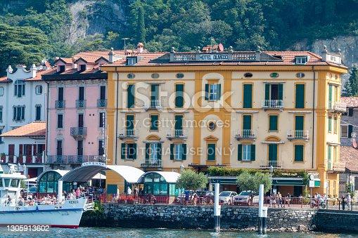 istock Hotel Olivedo in Varenna on Lake Como, Italy 1305913602