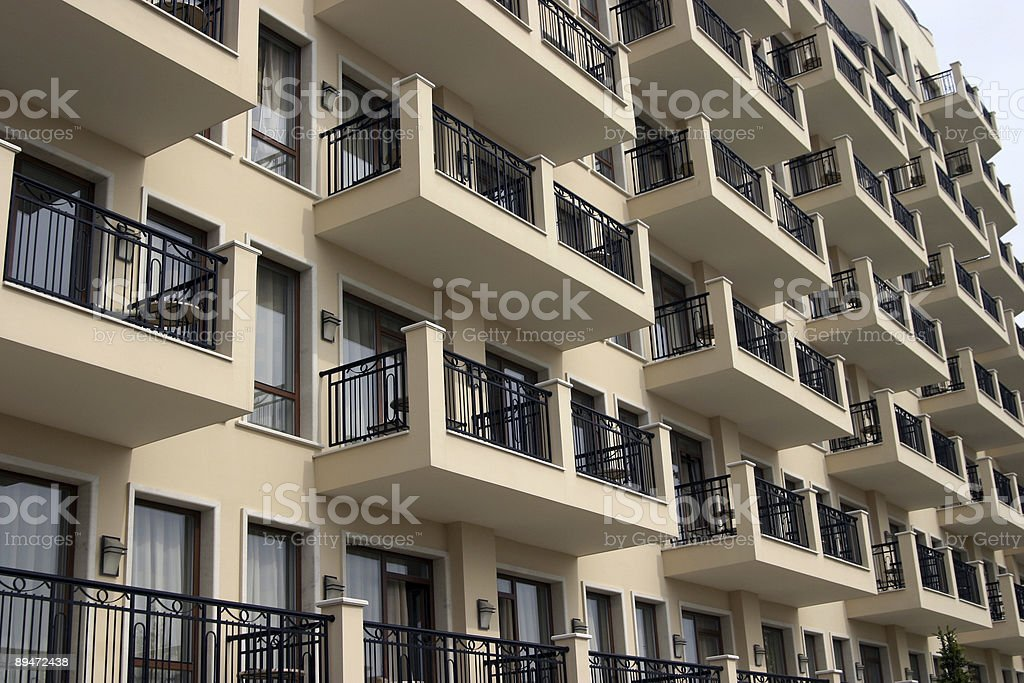Hotel on a resort royalty-free stock photo