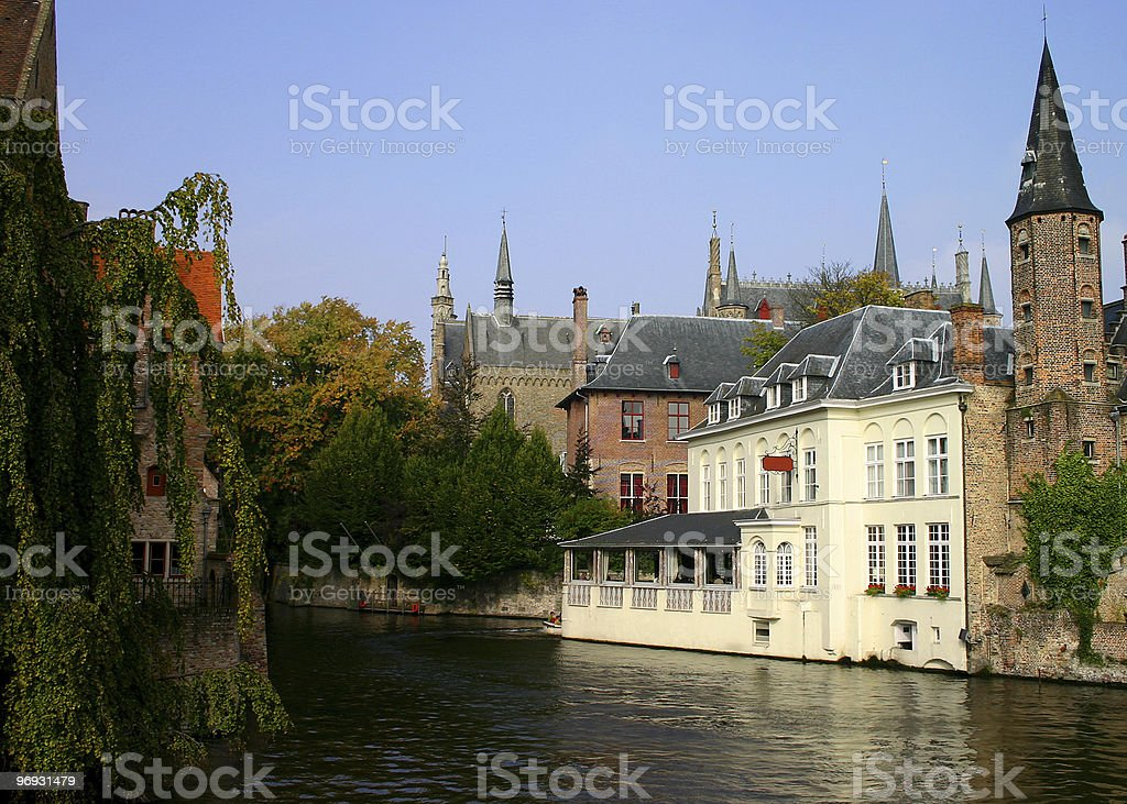 Hotel on canal royalty-free stock photo