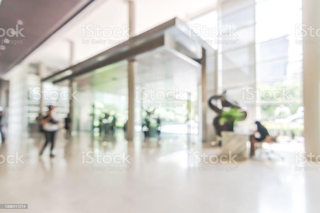 Hôtel ou au bureau hall dentrée flou vue intérieure fond vers la