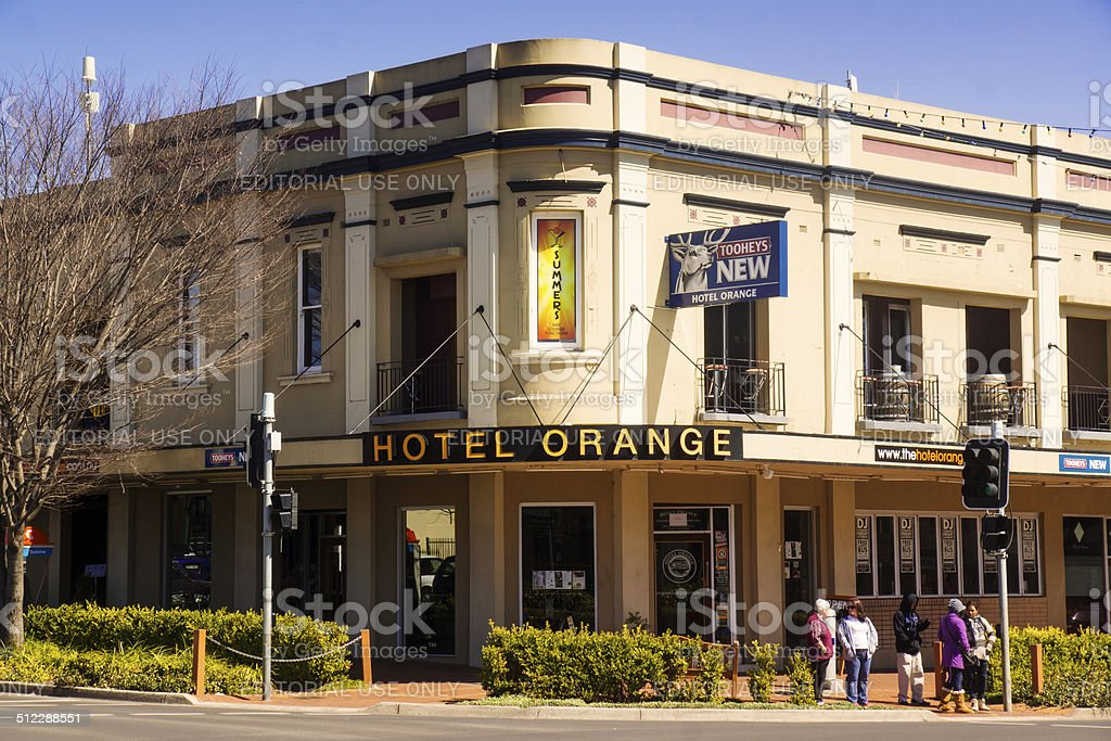 Hotel Orange stock photo