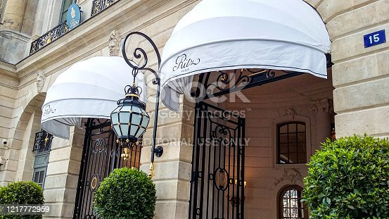 In June 2016, rich tourists were staying in the Hotel Ritz in Place Vendome in Paris.