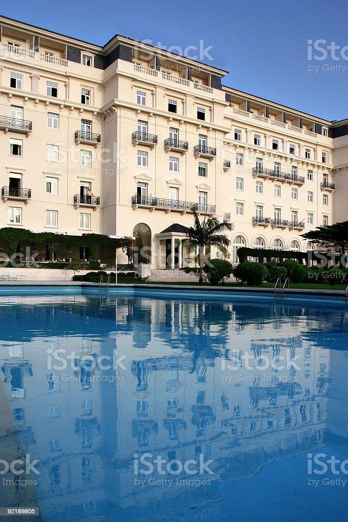 Hotel Palacio in Estoril, with Swimmingpool stock photo