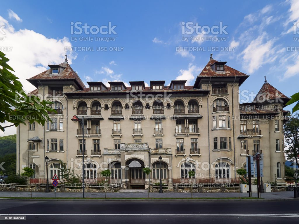 Hotel Paltinis in Sinaia, Romania stock photo