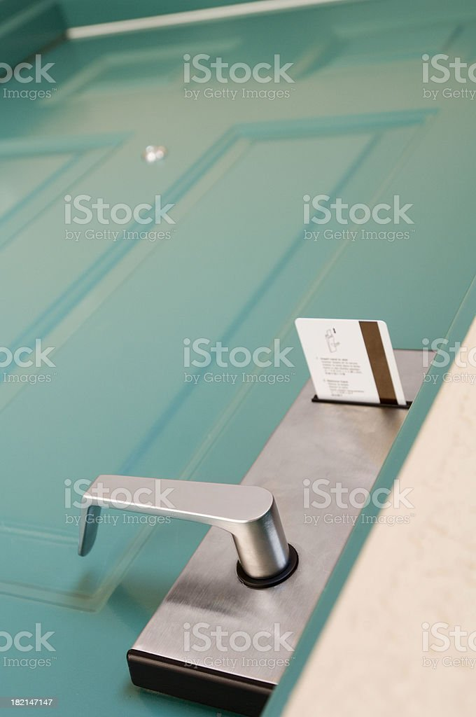 hotel pass key insertion royalty-free stock photo