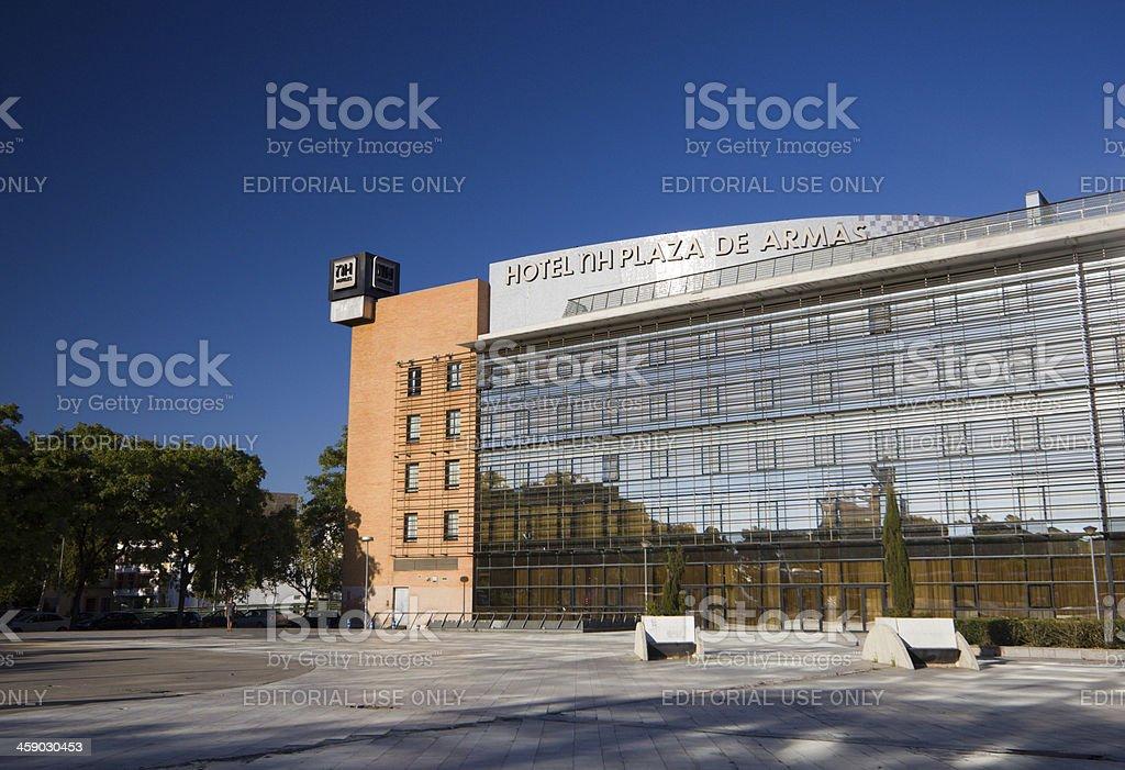 Hotel Plaza de Armas in Seville, Spain royalty-free stock photo