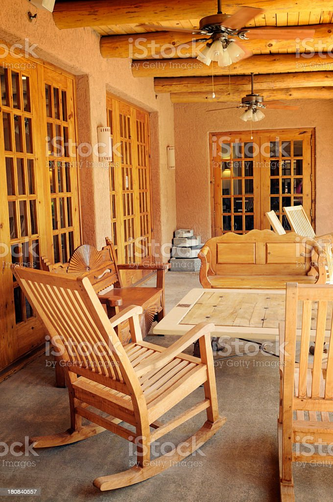 Hotel Porch royalty-free stock photo