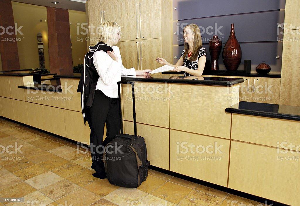 Hotel Reception stock photo