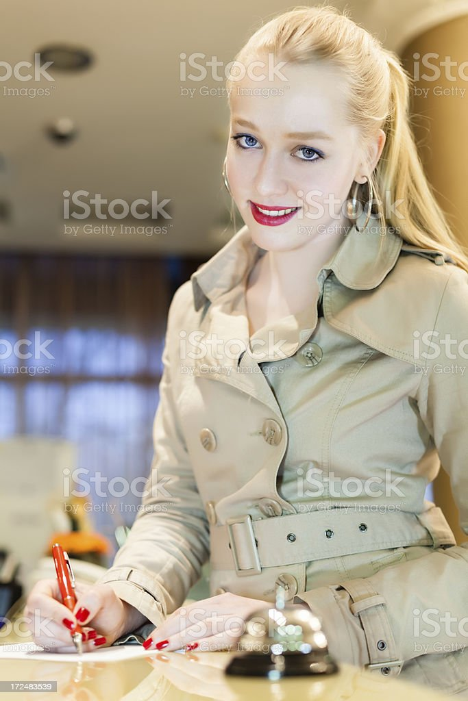 Hotel reception royalty-free stock photo