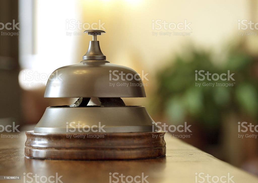 Hotel reception service bell royalty-free stock photo
