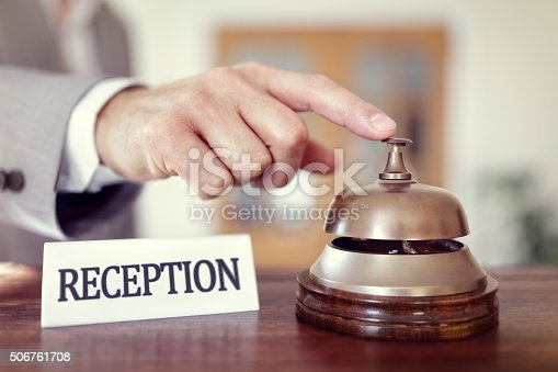 istock Hotel reception service bell 506761708