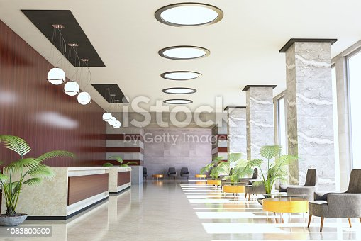 Hotel Reception / Waiting Lounge ( 3d render )